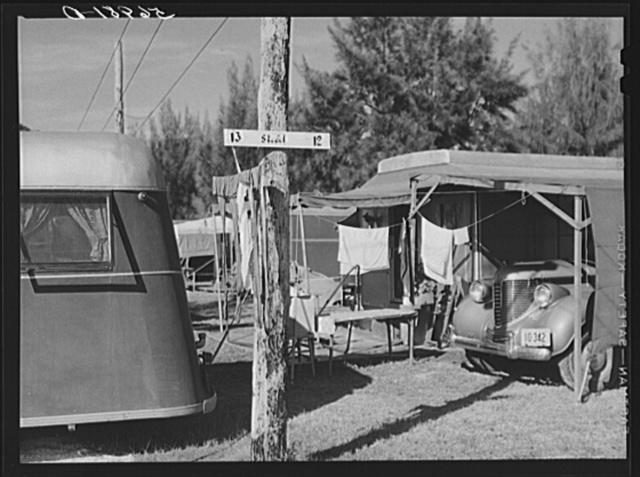 Trailer homes in Sarasota trailer park. Sarasota, Florida