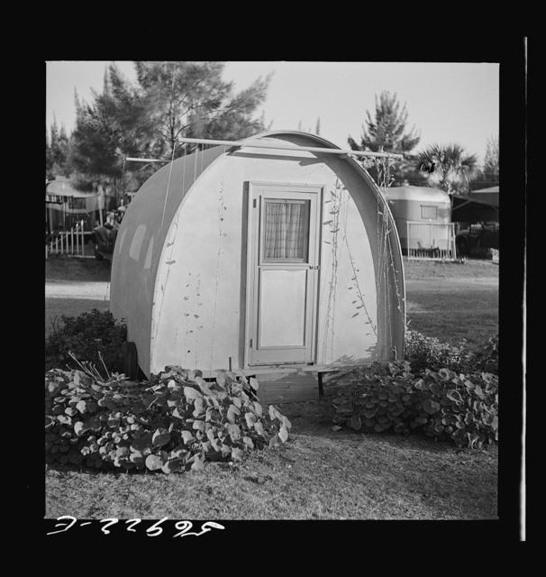 Trailer in Sarasota trailer park. Sarasota, Florida