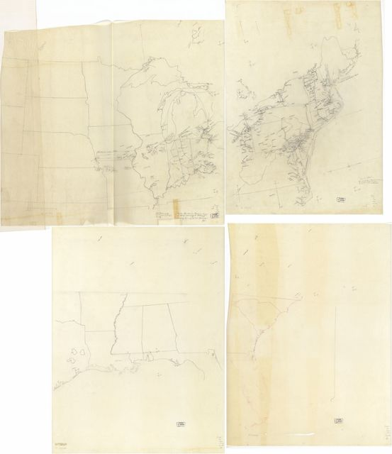 Underground railroad map of the United States, ca. 1838-1860. | PICRYL