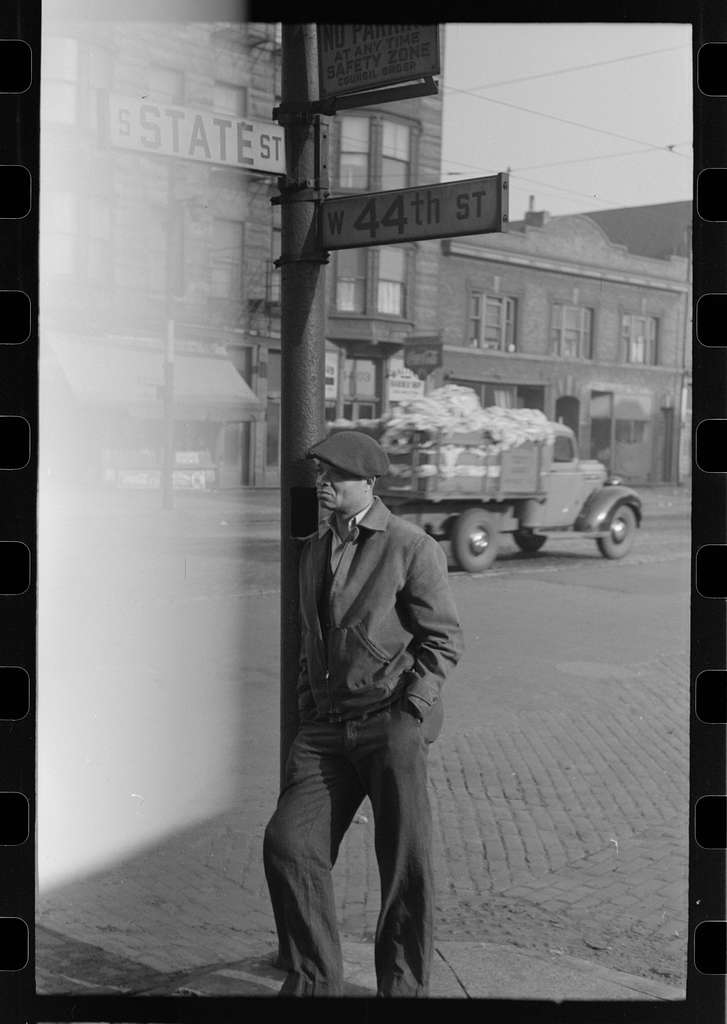 Untitled photo, possibly related to: Entrance to Negro professional building, 47th Street, Chicago, Illinois