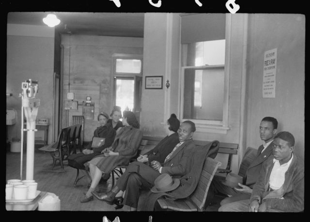 [Untitled photo, possibly related to: Waiting room at the municipal tuberculosis sanitarium, Chicago, Illinois]