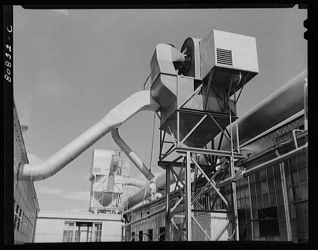 Ventilators. Raybestos Asbestos plant at Bridgeport, Connecticut