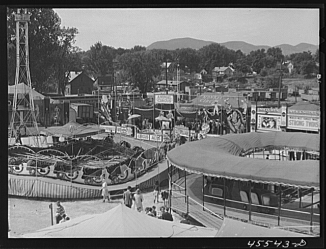View of the fairgrounds at the Rutland Fair, Vermont