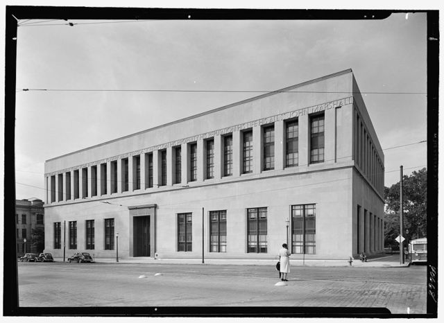 Virginia State Library & Courthouse, Richmond, Virginia. Court facade