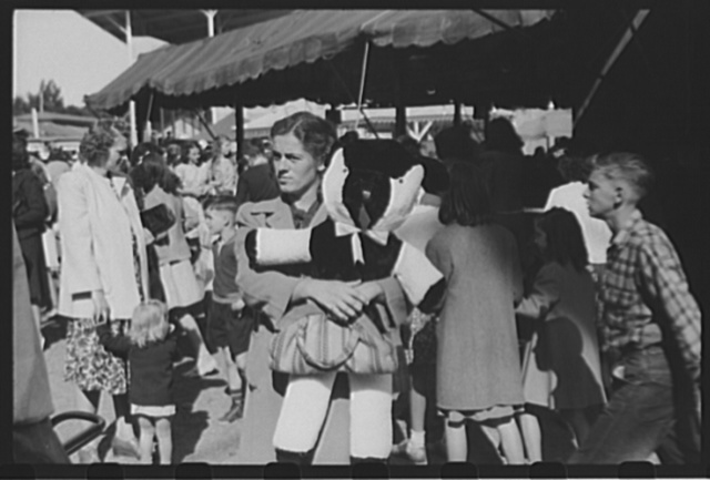 Visitors at the Rutland Fair, Rutland, Vermont
