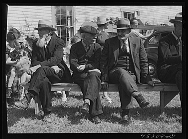 Visitors at the World's Fair at Tunbridge, Vermont