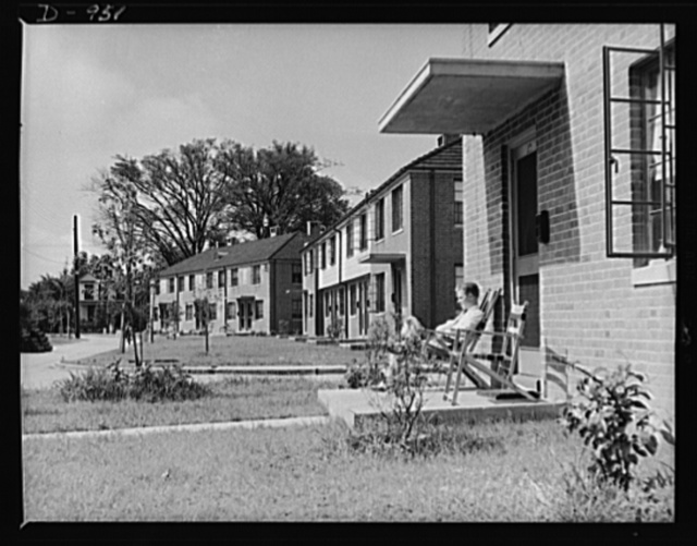 War housing. Hale Homes, Portsmouth, Virginia. A 300-unit project to house civilian workers employed at the Norfolk Navy Yard. These homes, constructed at a cost of $1,114,748 by the USHA (U.S. Housing Authority) through the local housing authority, are permanent and are expected to continue after the emergency as part of the local authority's low-rent housing project. Rents are divided into three groups which run from a low of $19 to a high of $39 a month. The project completed on February, 1941, consists almost entirely of apartment-type dwellings