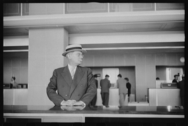 Washington, D.C. An airline's passenger in the lobby of the municipal airport