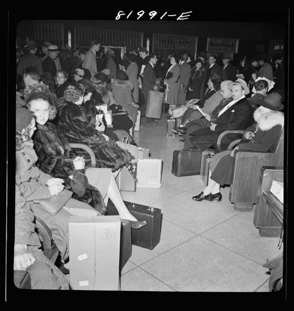 Washington D.C. Christmas rush in the Greyhound bus terminal