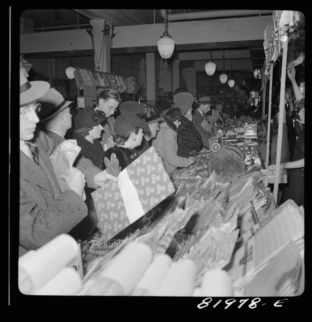 Washington, D.C. Christmas shopping in Woolworth's five and ten cent store