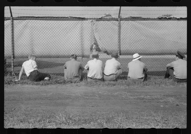 Watching ballgame. Vincennes, Indiana