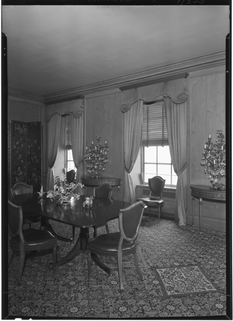 William R. Coe, residence, River House, New York City. Dining room, to windows (full 1000W)