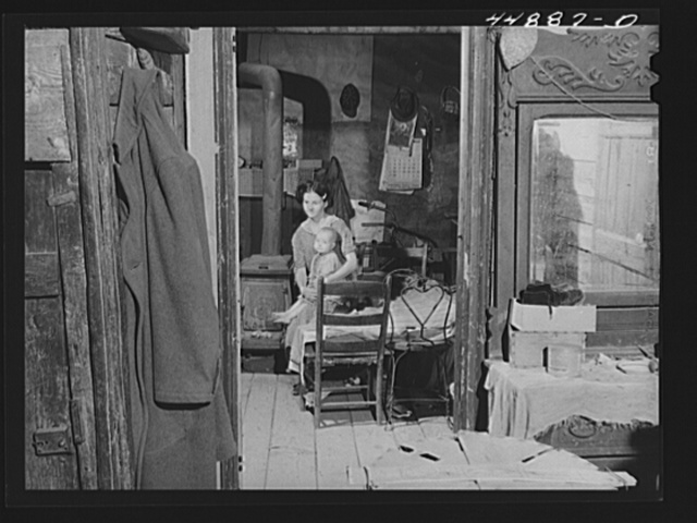 Woman and her child who must move out. The Army is taking over the area for maneuver grounds. Caroline County, Virginia