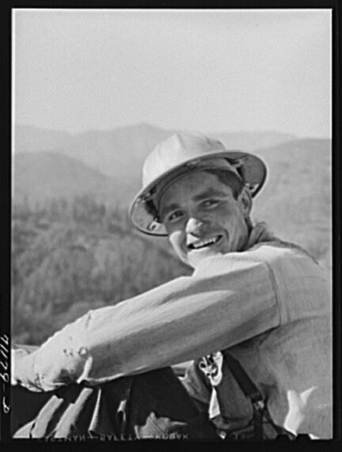 Worker. Shasta Dam, Shasta County, California