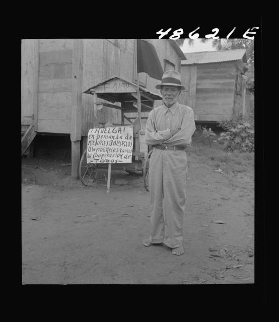 Yabucoa, Puerto Rico. Old man on strike against the management of a sugar plantation
