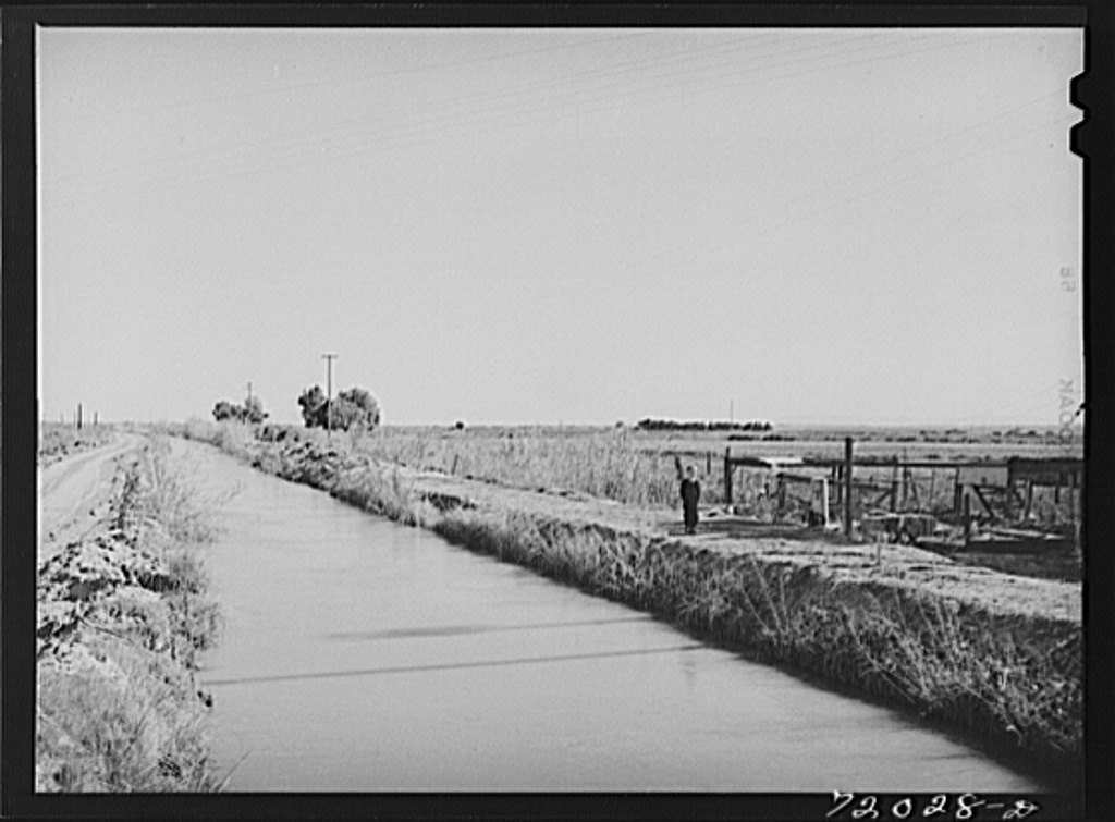 A main lateral irrigation ditch. Imperial County, California