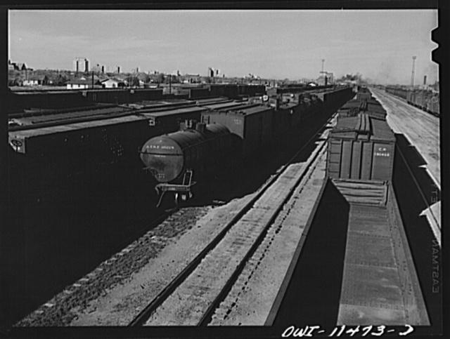 Amarillo, Texas. Sante Fe Railroad yards