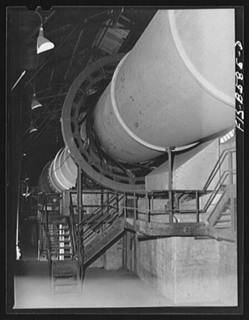 Anaconda smelter, Montana. Anaconda Copper Mining Company. Large kiln in which manganese ore is smelted