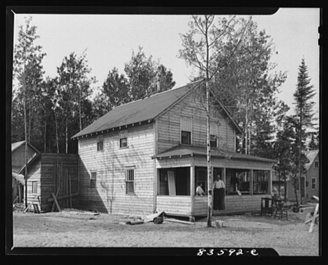 Aroostook County, Maine. Present home of Belonie Dufour after moving from his farm which was lost when the price of potatoes went down