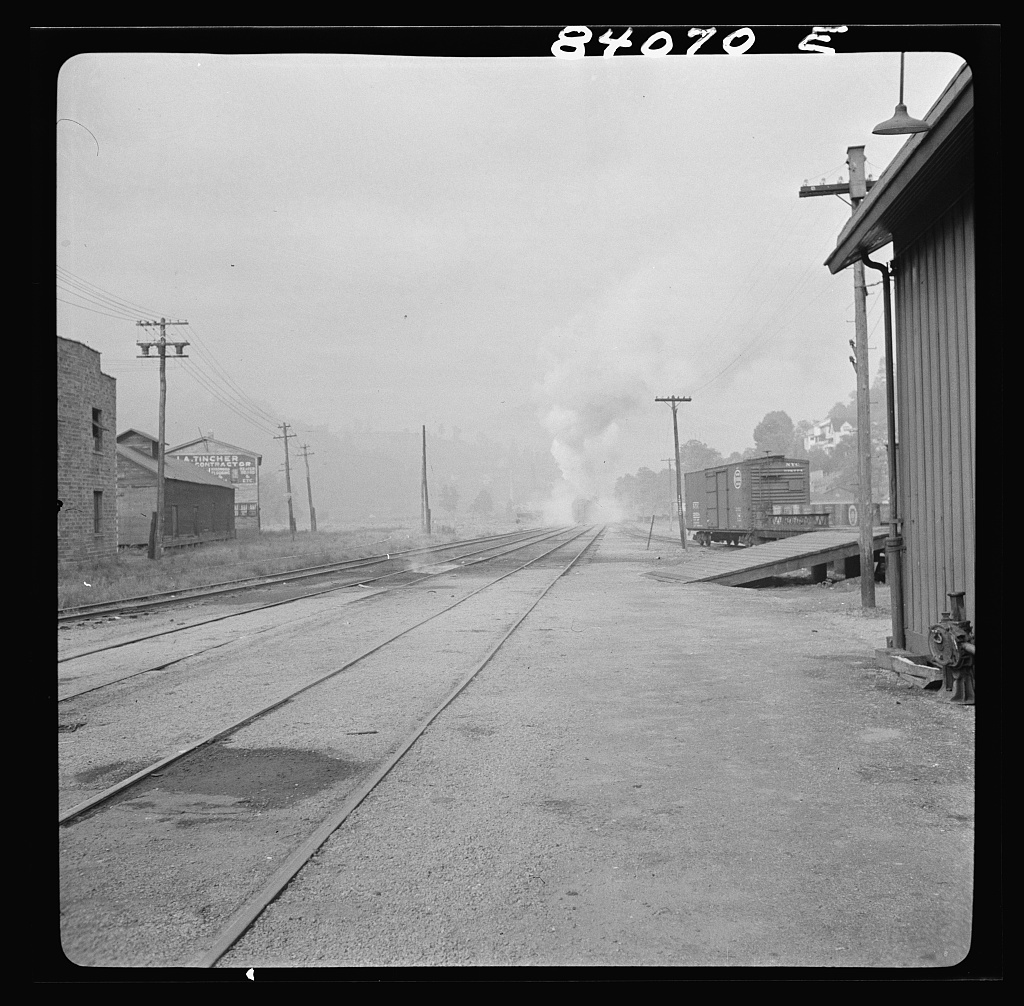 Baltimore and Ohio Railroad train leaving Richwood, West Virginia