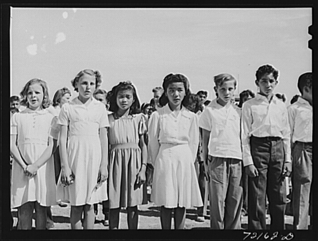 Band of the schoolchildren's victory chorus at the Imperial County Fair, California