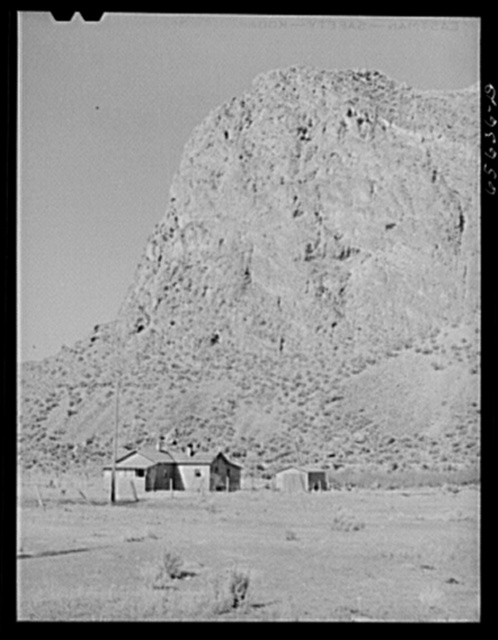 Beaverhead County, Montana. Cabin at the foot of a mountain