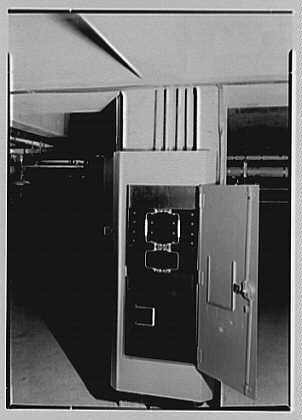 Bell Telephone Laboratory, Murray Hill, New Jersey. Cellar power panel