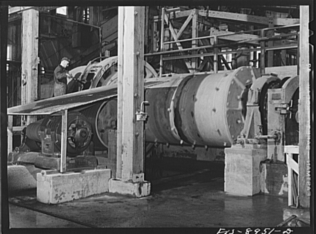 Ben Bow chromite mill, Stillwater County, Montana. Mill in which chrome ore mixed with water is finely ground before final concentration