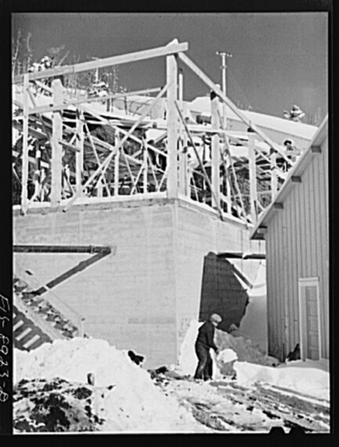 Ben Bow chromite mine, Stillwater County, Montana. Construction still proceeds