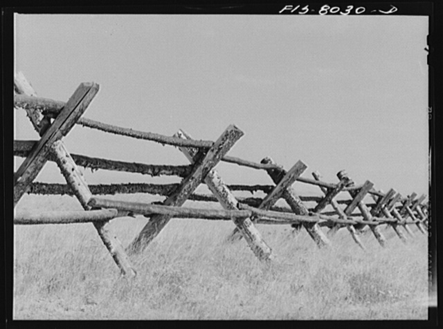 Big Hole Valley, Beaverhead County, Montana. Fence. This is cattle country