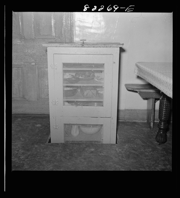 Blue Ball, (vicinity). Lancaster County, Pennsylvania. Dumbwaiter food safe which descends into the basement when not needed