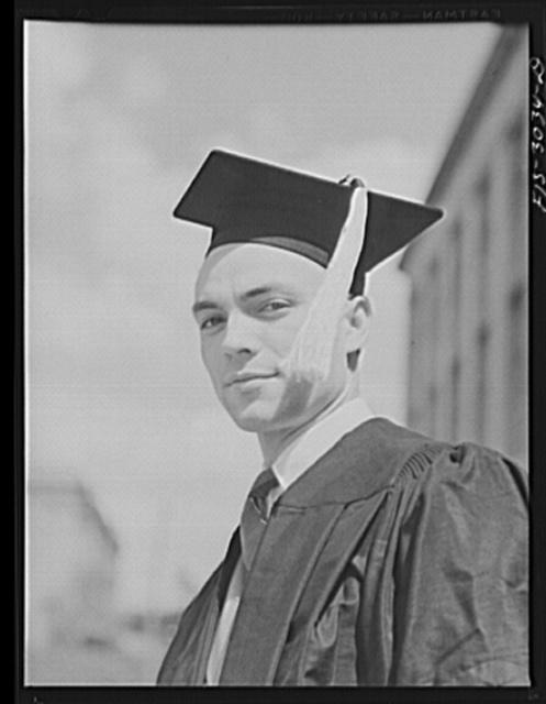 Bob Aden on graduation day. University of Nebraska, Lincoln