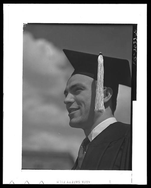 Bob Aden on graduation day, University of Nebraska, Lincoln