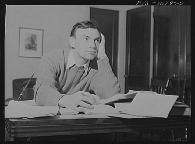 Bob Aden studying. University of Nebraska, Lincoln