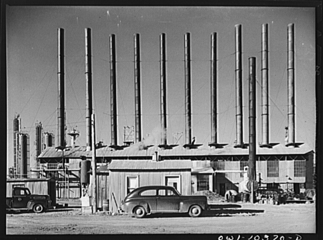 Boiler house at the Phillips gasoline plant