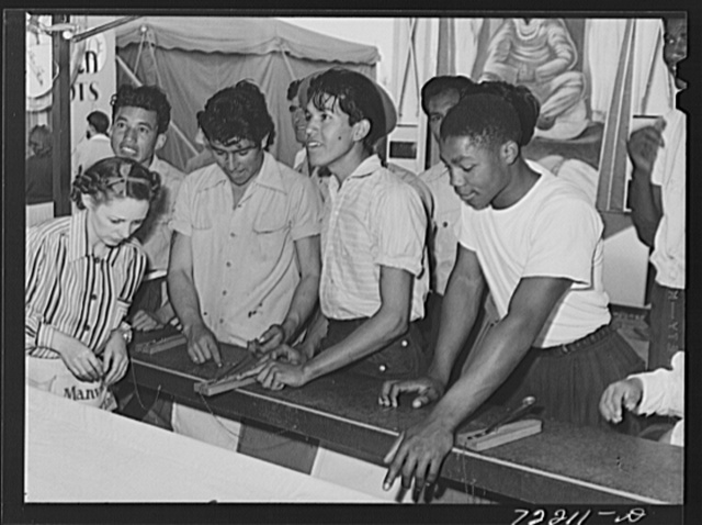 Boys at carnival attraction. Imperial County Fair, California