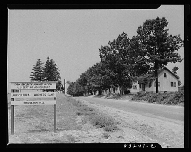 Bridgeton, New Jersey. Seabrook built houses for his field workers. The FSA (Farm Security Administration) agricultural workers' camp is across the road