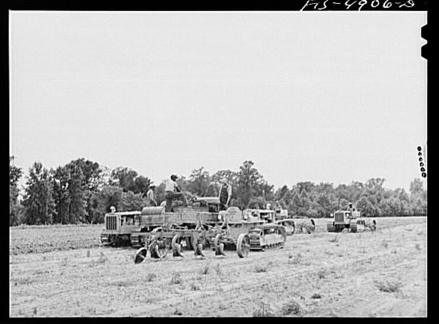 Bridgeton, New Jersey. Seabrook Farms. Refueling tractors in the field