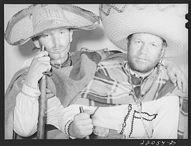 Brownsville, Texas. Charro Days fiesta. A pair of bandidos