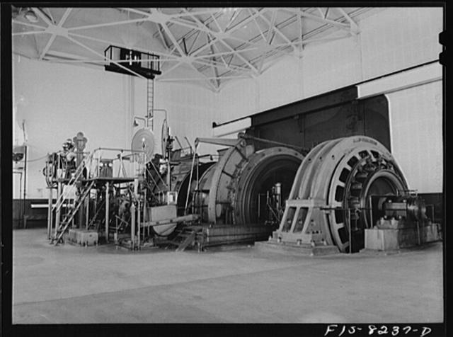 Butte, Montana. Anaconda Copper Mining Company. Huge motors are required for hoisting machines at copper mines
