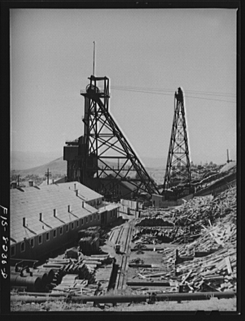 Butte, Montana. Anaconda Copper Mining Company. Vast quantities of timber are used in the copper mines