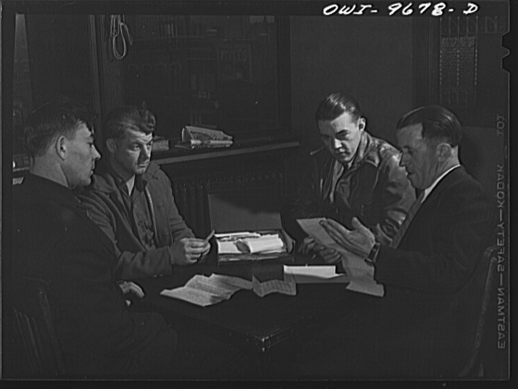 Butte, Montana. Committee meeting of the miners' union