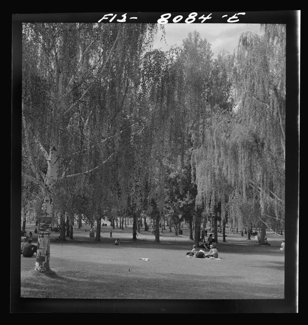 Butte, Montana. Part of Columbia Gardens, an outdoor amusement resort. In 1898, W.A. Clark spent a million dollars to change a barren spot to a park. Every Thursday during the summer, city buses transport children to the park free of charge
