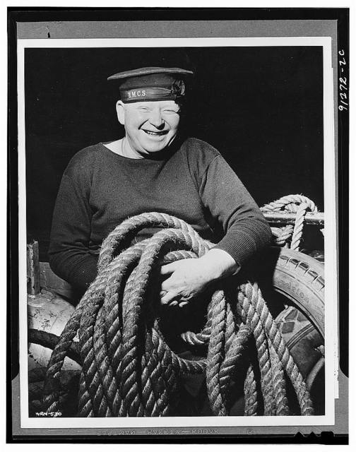Canadian sailor with a line