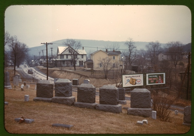 Cemetery at edge of Romney, West Va.
