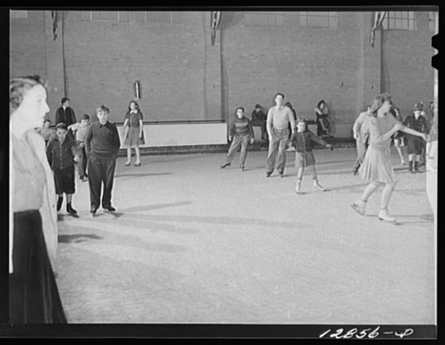 Chevy Chase Ice Palace, Washington. D.C. Skaters in ballroom