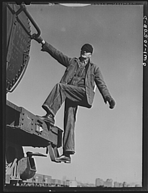 Chicago, Illinois. E. A. Morgan, of Harvey, Illinois, freight conductor in the Illinois Central Railroad