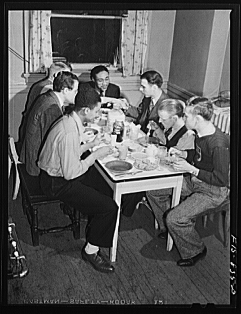 Chicago, Illinois. Ida B. Wells Housing Project. A group of young fellows who are living cooperatively in a large house on the South Side