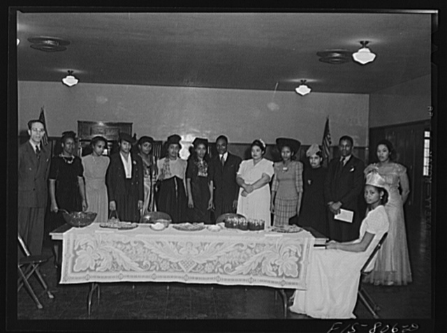 Chicago, Illinois. Ida B. Wells Housing Project. Officers of the Sunday forum