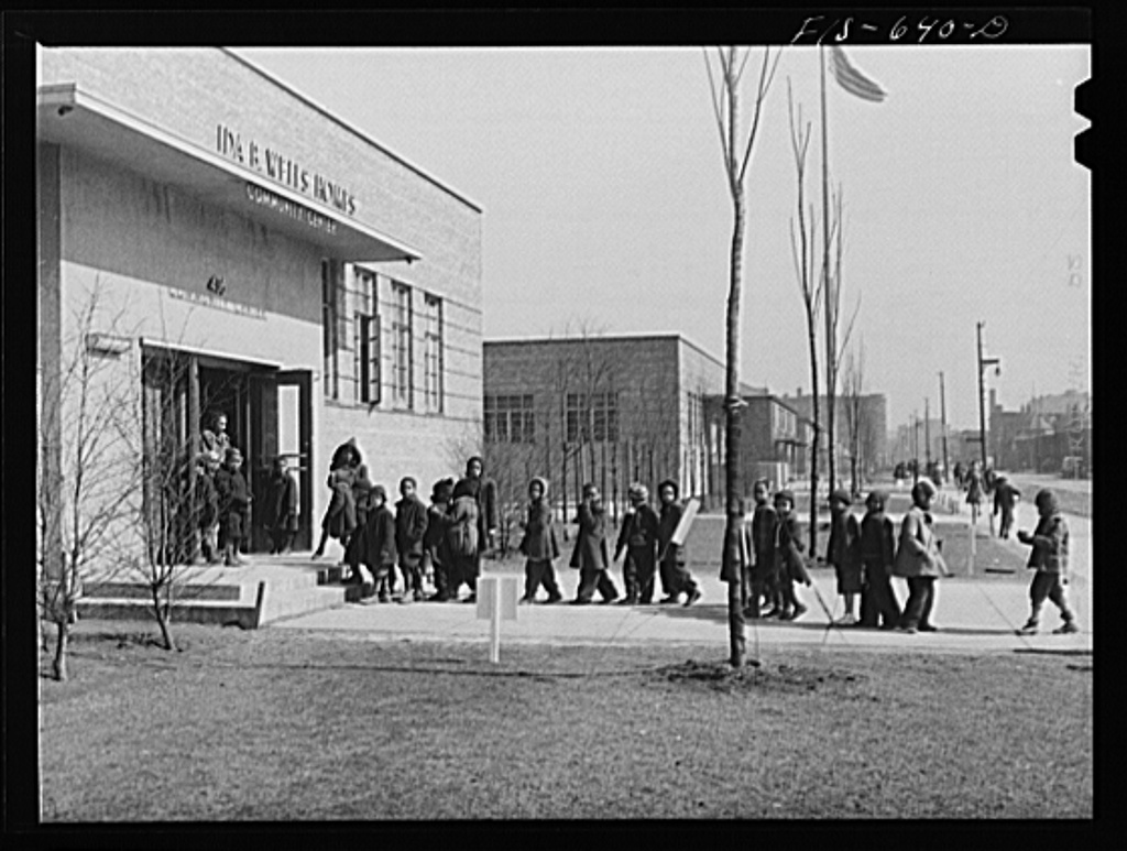 Chicago, Illinois. Ida B. Wells Housing Project. The community center is used as a kindergarten by the public school system